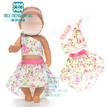 Clothes for doll fit 43-45cm baby new born doll accessories fashion princess dress children's Christ
