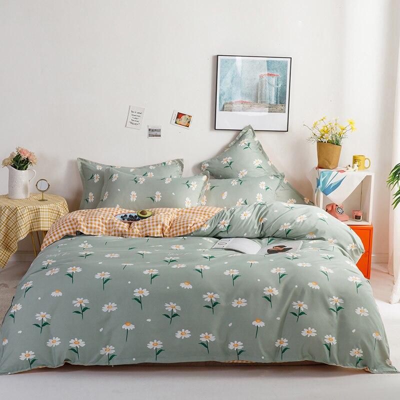 طقم سرير الرعوية ، غطاء لحاف شبكة البرتقال مع وسادة 200x230/150x200 ، غطاء لحاف نمط زهرة ، غطاء بطانية الملك الحجم