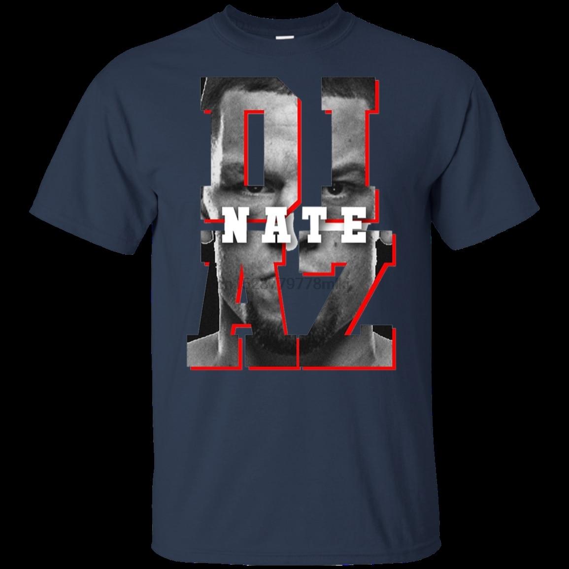 Nate Diaz camiseta Nate Diaz tri-blend USA camiseta azul marino para hombres-mujeres camiseta grande con cuello redondo camisas estilos