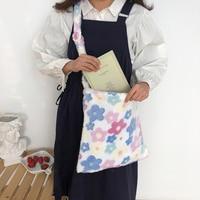 Сумка-мессенджер Youda Женская, мягкий вместительный саквояж на плечо из плюшевого материала, простой чемоданчик для покупок, сумка с цветами
