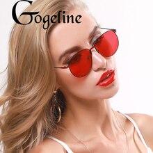 Óculos de sol feminino vintage quadrado tons armação de metal feminino masculino aviação óculos de sol vermelho oceano lente óculos uv400