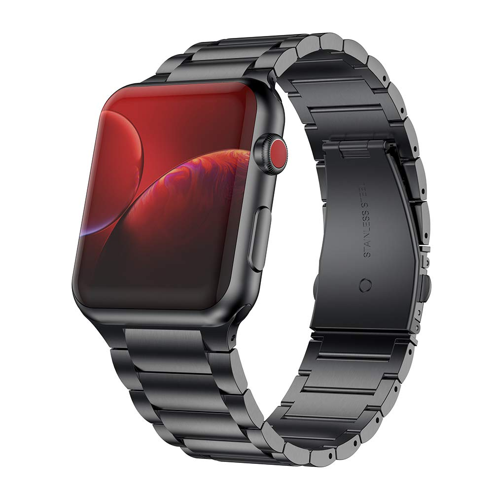 for Apple Watch 44mm 42mm band with case Series 5 4 Stainless Steel for Iwatch strap 38 40mm Watch Link bracelet and Case Cover