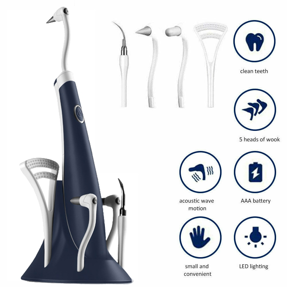 5 In 1 Electric Ultrasonic Dental Scaler Universal Tooth Cleaner High Frequency Tooth Stain Remover