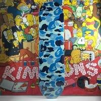 blue skateboard deck 7 layer maple coloring ape head trendy decoration bathing deck ape skate board monkeypictures