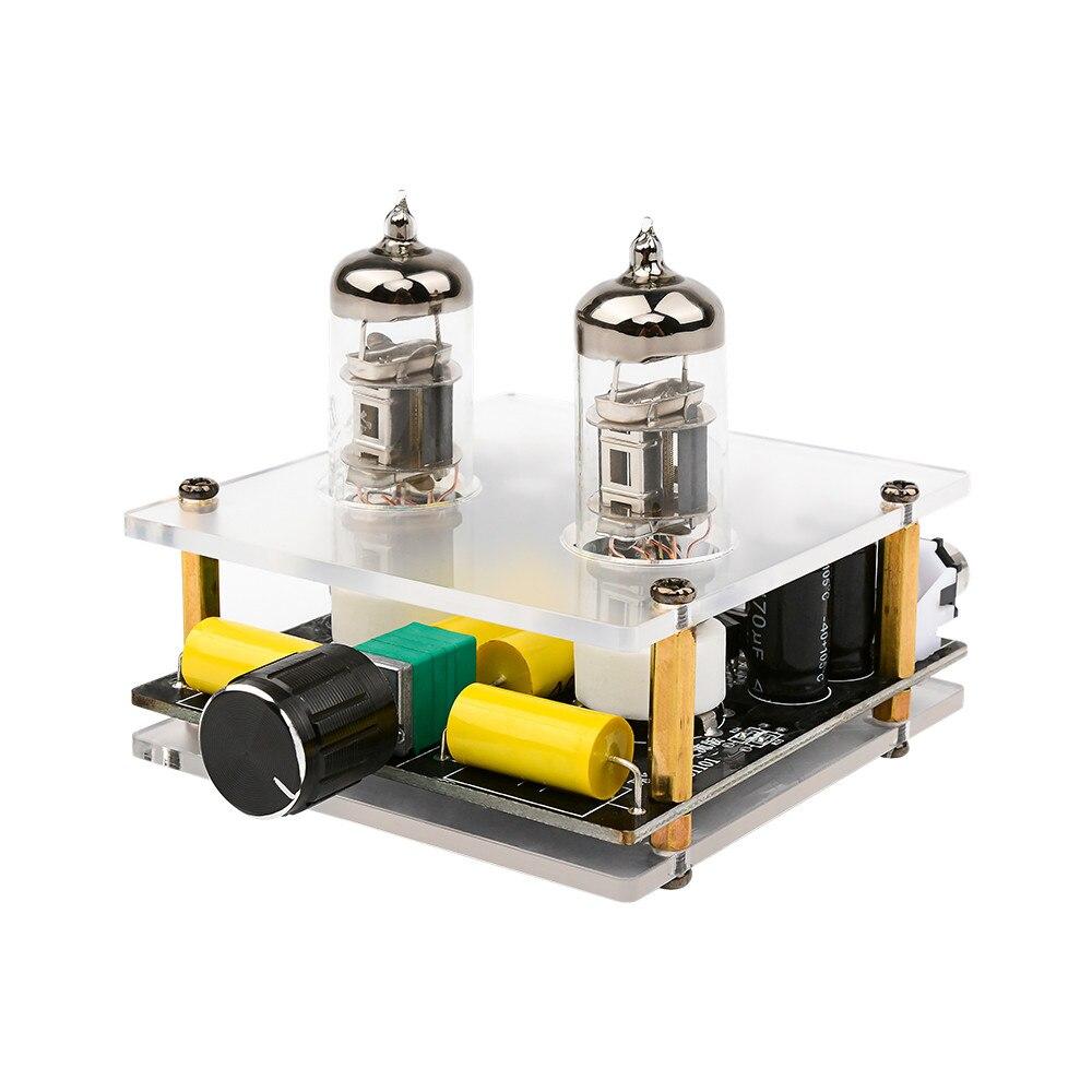 Aiyima 6j3 tubo de vácuo pré-amplificador de alta fidelidade preamp bile buffer amplificador alto-falante acabado placa amplificadores som em casa teatro