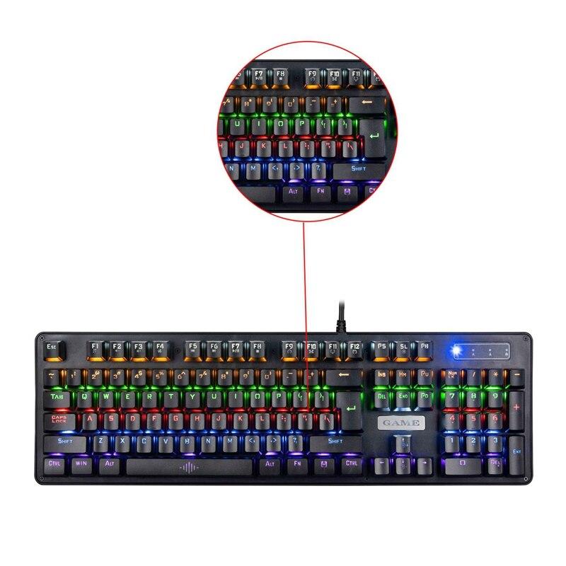 Gaming Keyboard K30 Gaming Mechanical Keyboard Blue Switch Gaming USB 104 Keycaps Gamer Keyboard with Backlight RGB