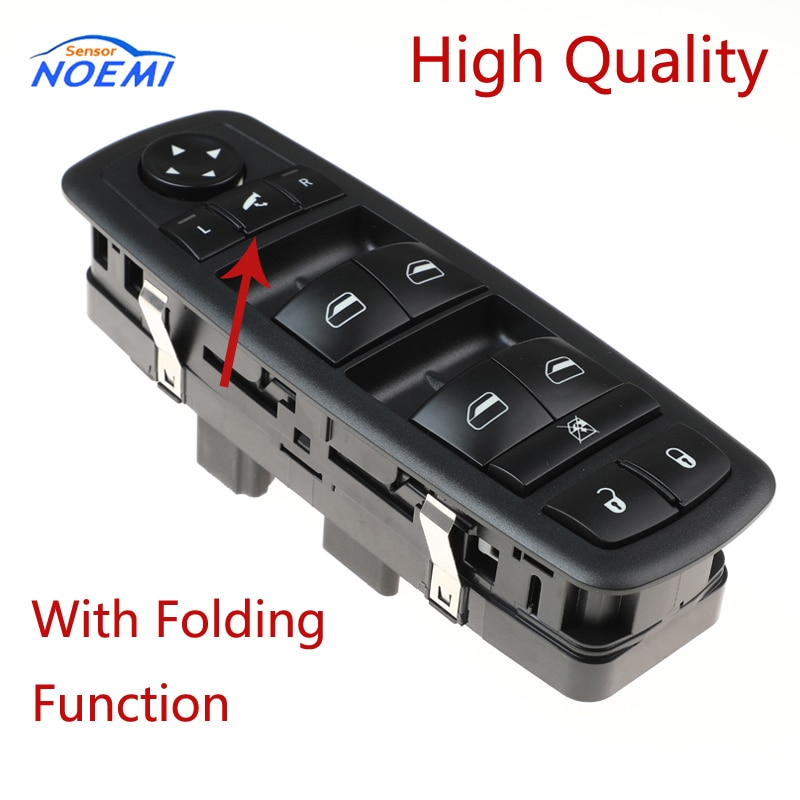 YAOPEI 68029021AC Front Left Side Electric Power Window Switch With Folding For Dodge Chrysler Caravan 2008 2009