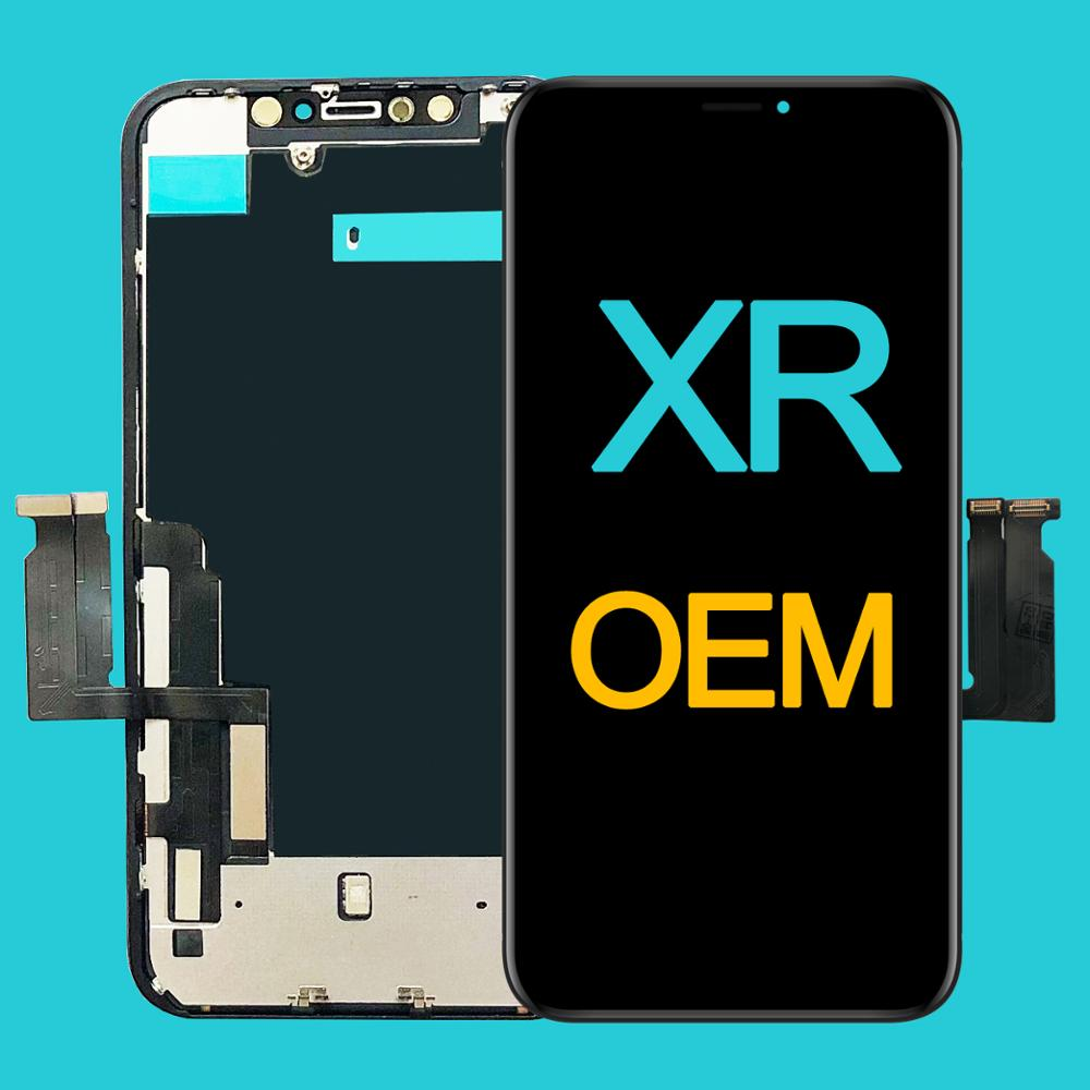 Factory Wholesale OEM New Lcd for iPhone XR Display Screen Touch With Metal Factory Display For iPhone XR Lcd OEM touch Screen