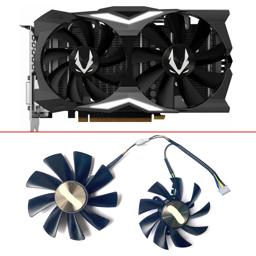 2PCS 100MM 87MM GAA8S2U GA92S2H 12V 0.45A 4PIN GPU Cooling Fan For ZOTAC GAMING GeForce RTX2070 RTX 2070 OC Mini Video Card Fans