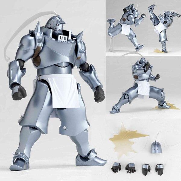 Anime Fullmetal Alchemist Alphonse REVOLTECH YAMAGUCHI 117 BJD Brinquedos Action Figure Modelo