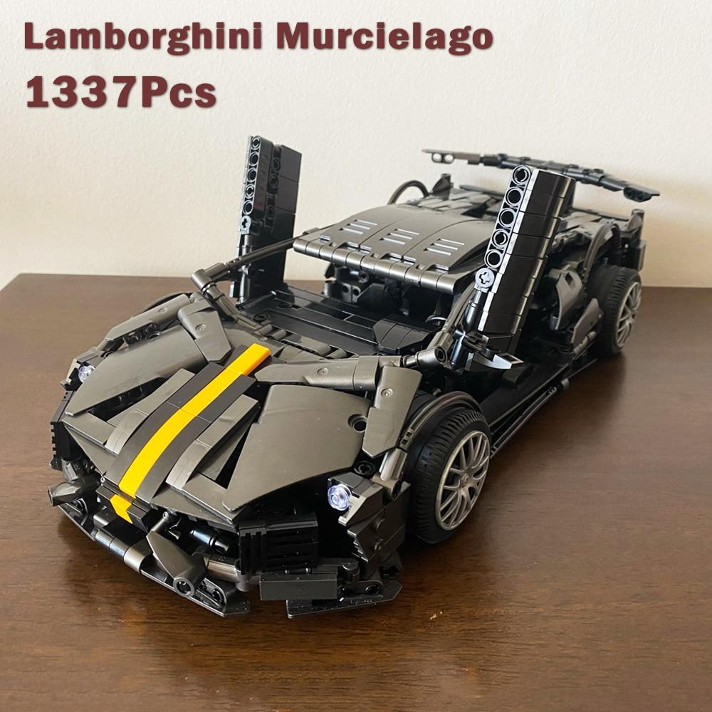 Creator Expert 023015 1337pcs High-tech 488 RSR Formula Racing Car GTE Moc Modular Bricks Building Blocks Model Boys Dream Toys
