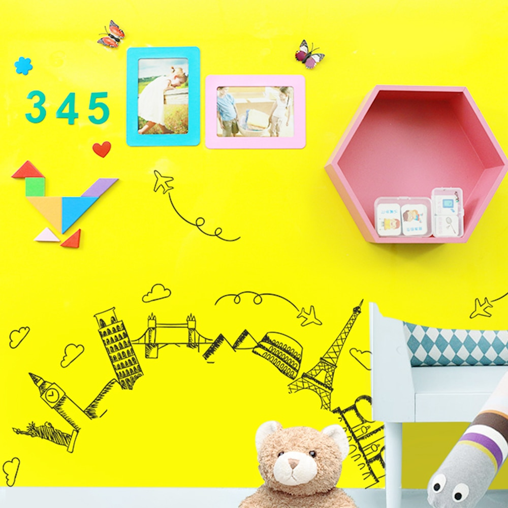 DIY Ferrous Hold magnets White Board Wall sticker Dry Wipe Drawing Writing Learning Message board Kids Room Office School Decor