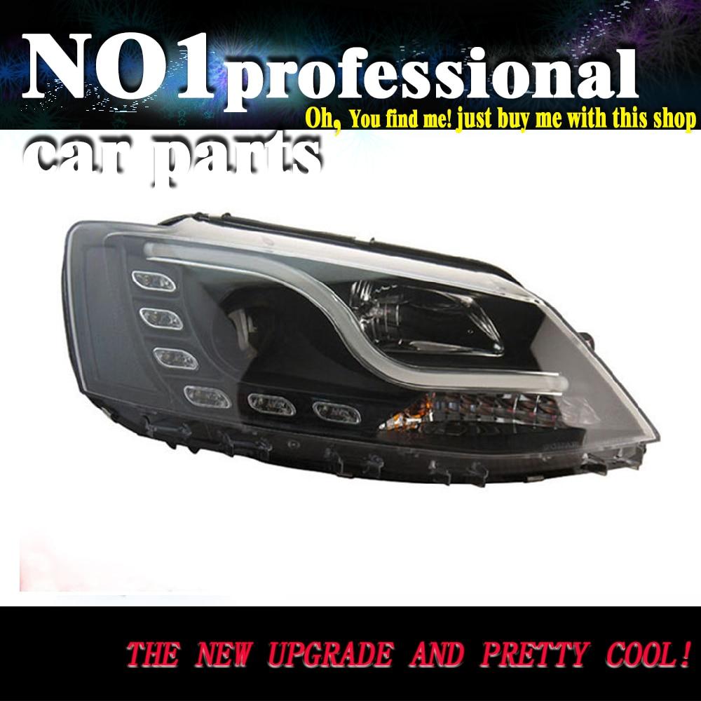 Accesorios de coche para V.W JET. TA MK6 faros delanteros LED 2009-2013 ANGEL EYES DRL bi-xenon lente HID accesorios para automóviles