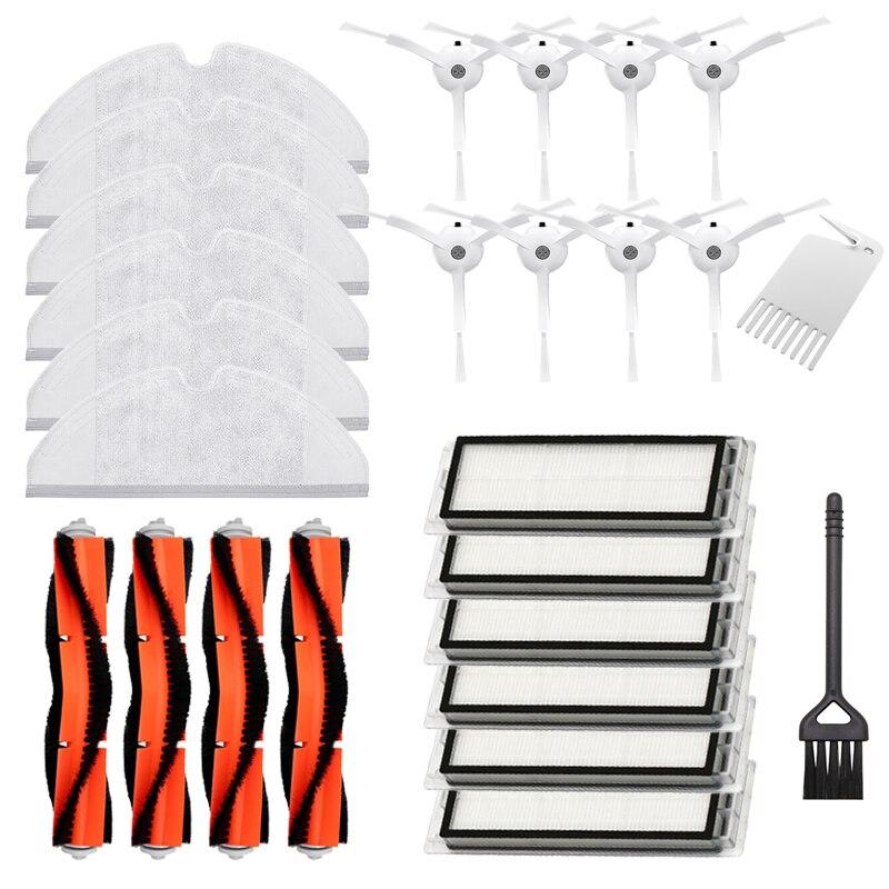 Acessórios lavável para xiaomi roborock s5 max mi robô aspirador de pó (centro/escova lateral filtro hepa pano mop) kits patrs