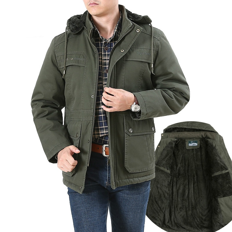 ملابس رجالية-معطف عسكري, جاكيت كبير الحجم 8XL معطف روسي شتوي عسكري للرجال بطانة من الصوف دافئ بقلنسوة للرجال معطف متعدد الجيوب للرجال casaco masculino