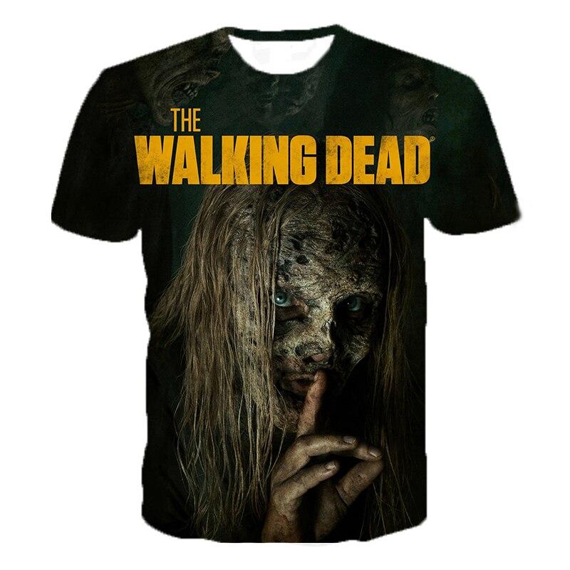 Horror Tv De Walking Dead 3D Print Tshirt Mannen/Vrouwen Hip Hop Streetwear Tee T-shirt 90S Jongens cool Kleding Man Tops