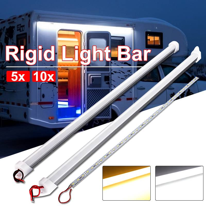 Waterproof LED Bar Lights DC 12V 50cm 9W 5630 SMD 36 High Brightness LED Rigid Strip Energy Saving C