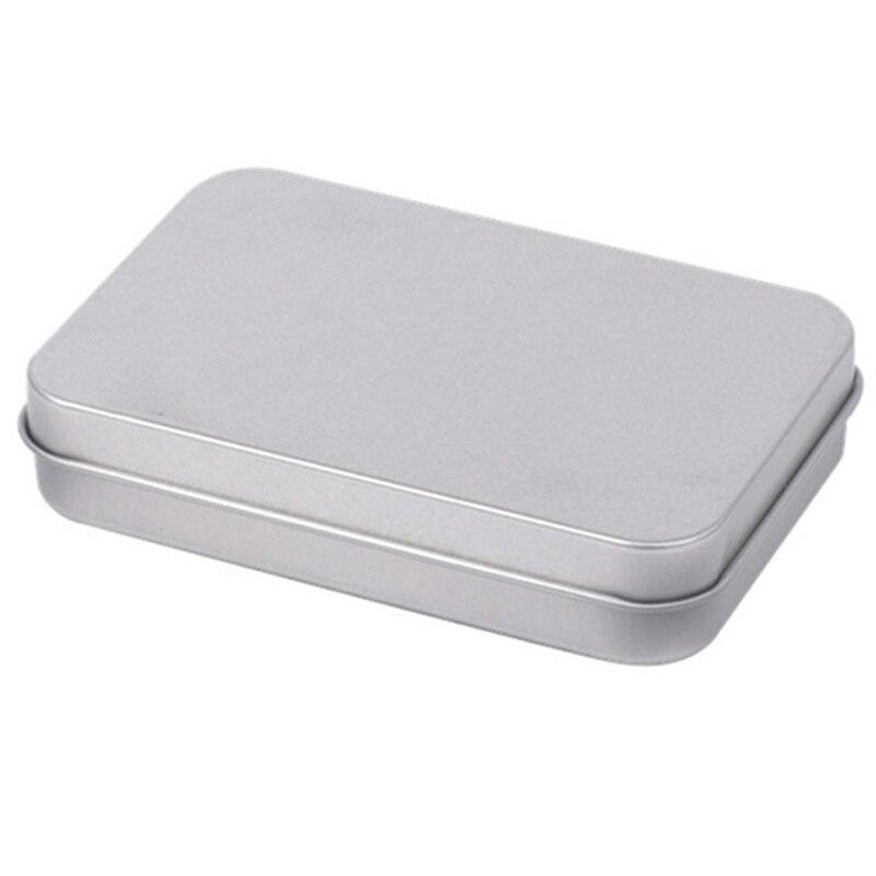 Best 30 unids/lote caja de Metal rectangular 9,5x6x2 Cm sellado pequeñas cajas de herramientas almacenamiento monedas caja de regalo para auriculares contenedor de hierro
