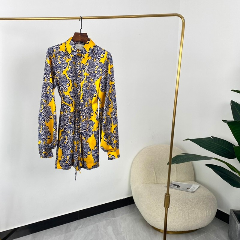 2021 Summer Top Quality Vintage Printed High Quality Fashion Designer Style Vintage Playsuits Women