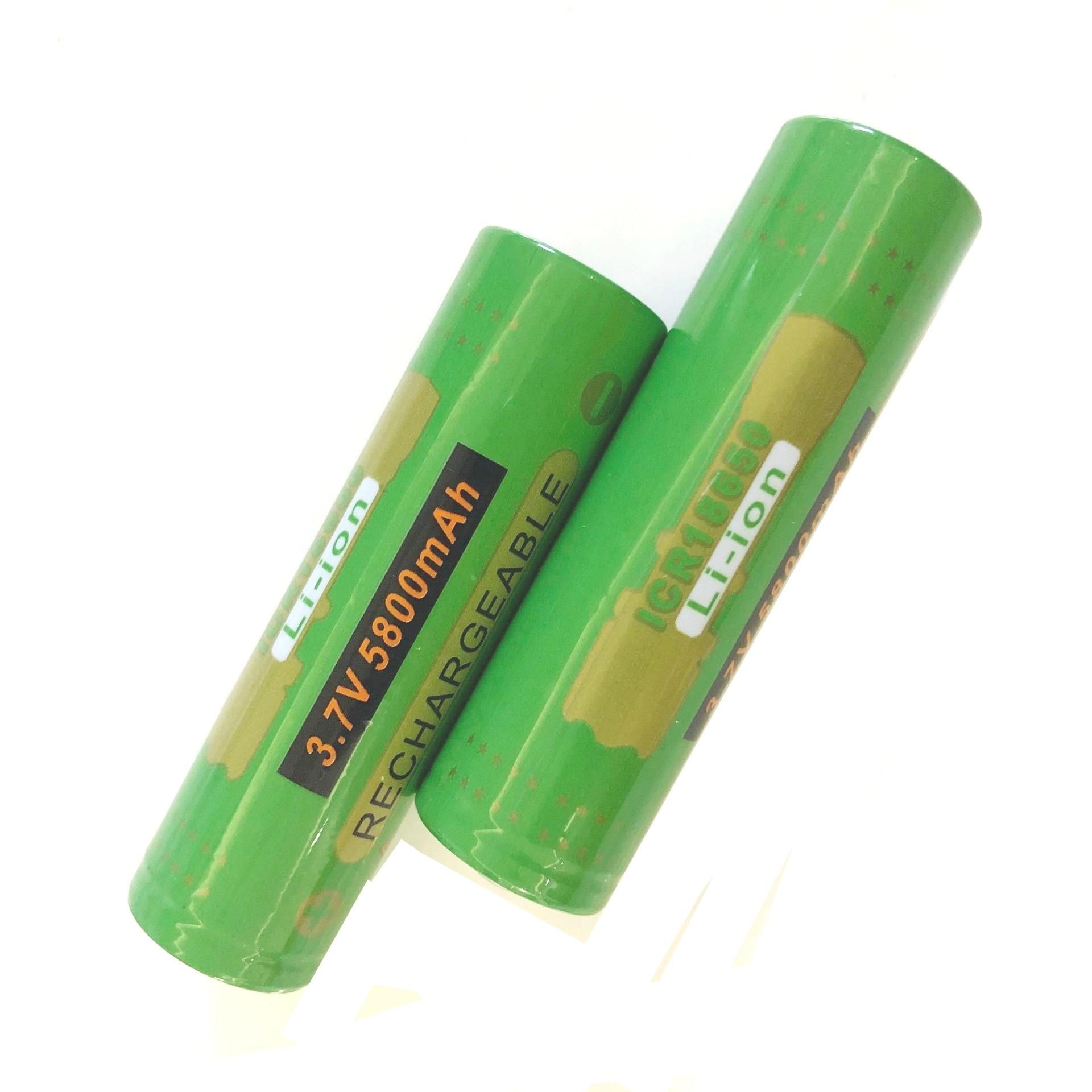 ICR18650 3.7V 5800Mah Li-ion batterie Rechargeable pour lampe de poche phare phare laser batterie