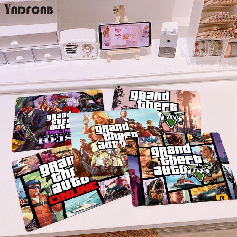 Красивые коврики для компьютерной игровой мыши YNDFCNB с героями аниме GTA V или Overwatchs, гладкий коврик для письма, коврик для игровой мыши для нас...