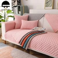 european cotton linen sofa towel for living room anti dirty corner couch cover solid color non slip seat cushion bay window mat