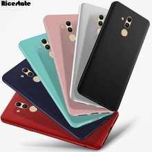 Яркий Цветной матовый Мягкий силиконовый чехол для Huawei Mate 20 lite Mate 9 10 P30 P20 Pro P10 Plus P9 P8 Lite 2017, чехлы для телефонов