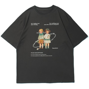 LACIBLE Men Hip Hop T-Shirt Streetwear Girls Letter Print T Shirt Harajuku Cotton Tshirt 2021 Summer Casual Short Sleeve Tops