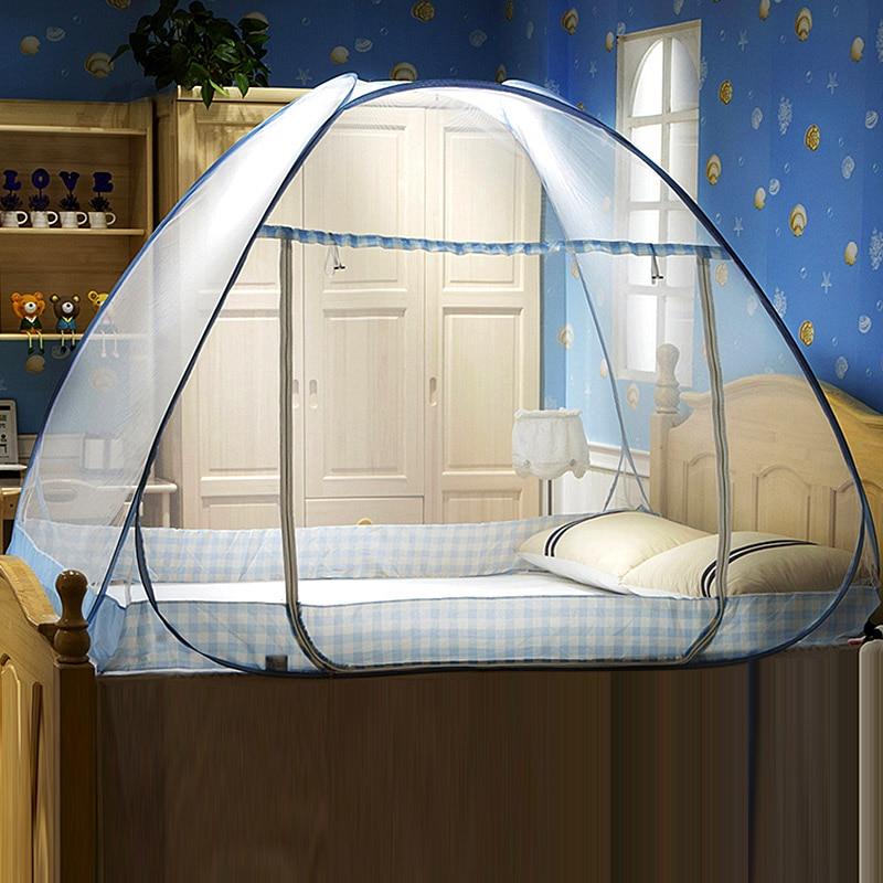 Mosquitera portátil plegable para estudiantes, tienda de campaña con cama de yurta mongola para camas individuales, dosel para habitación de niños, mosquitera, 1 unidad