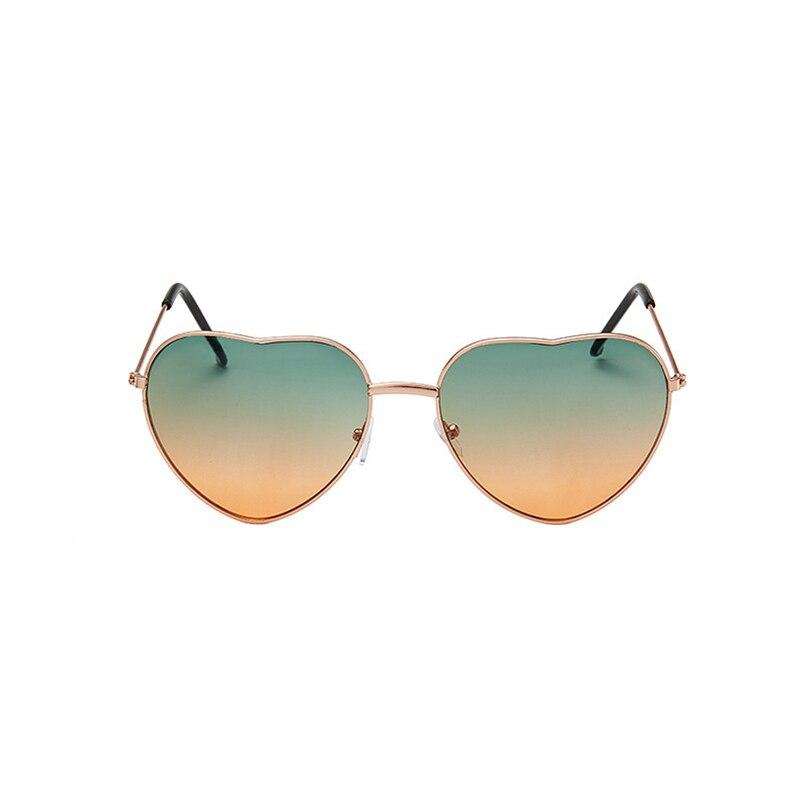 Fashion Heart Shaped Sunglasses Women Brand Designer Lady Metal Frame Sunglasses Heart Shape Retro Sunglasses Cute Love Eyewear