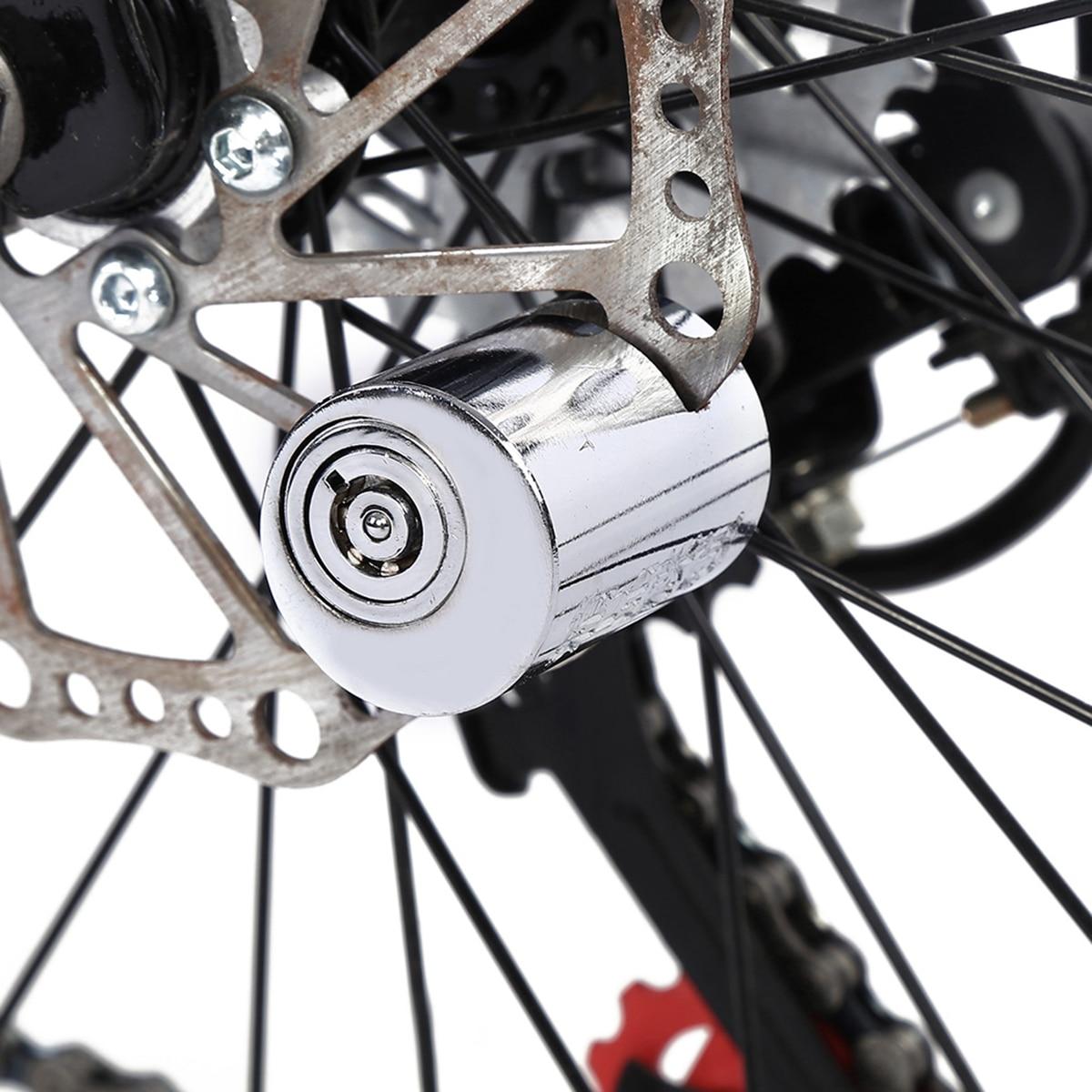 Bloqueo de bicicleta antirrobo Mini candado de seguridad para bicicletas, bloqueo de freno de disco de rueda para motocicleta o bicicleta eléctrica