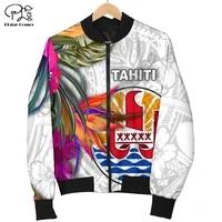 french polynesia art tahiti country flag tribal culture retro 3dprint menwomen funny bomber jacket motorcycle jacket pullover 3