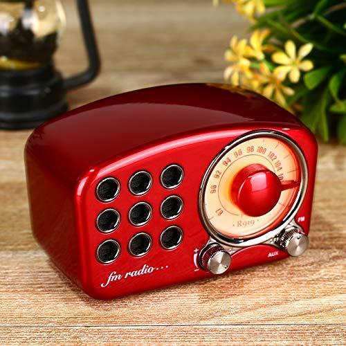 Classical retro radio receiver portable Mini Wood FM SD MP3 Radio stereo Bluetooth radio Speaker AUX USB Rechargeable radio enlarge