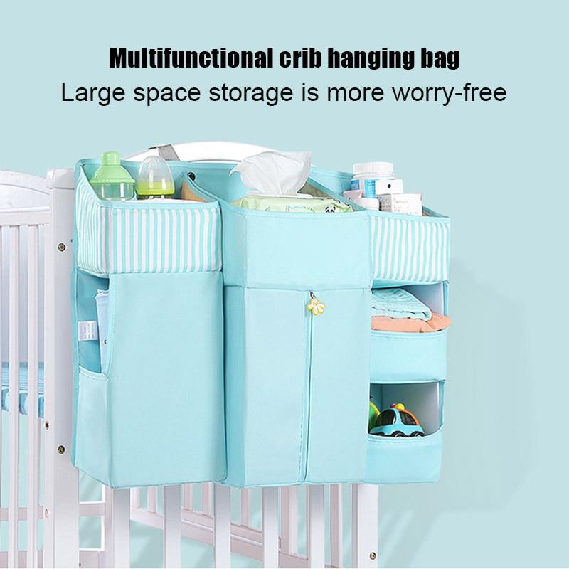 Bolsa de almacenamiento de la cama de la cuna del bebé que cuelga el bolso del pañal del bolsillo organizador de ropa para SDF-SHIP en el hogar