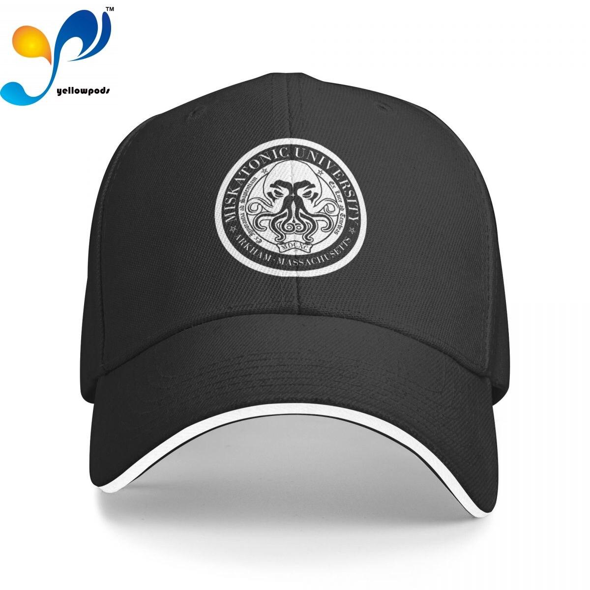 Мужские модные кепки для университета MISKATONIC, модные кепки для эмблемы