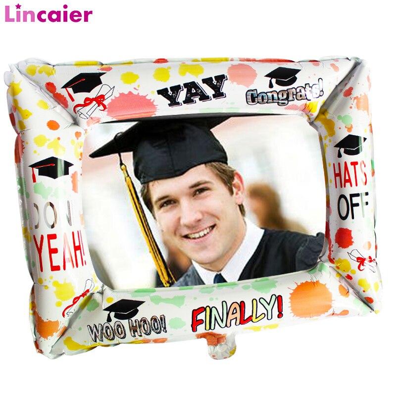 Globo de marco de foto de aluminio 2020 decoración de fiesta de graduación clase Photo Booth Props sombrero de Graduación
