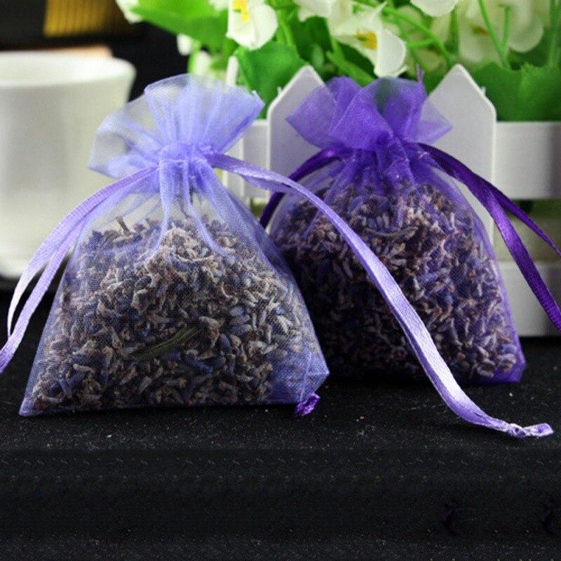Dried Franch Lavender Bud Dry Flower Sachet Bag Car Room Aromatic Air Refresh Desiccant Home Fragrance Sachets Moth Mildew