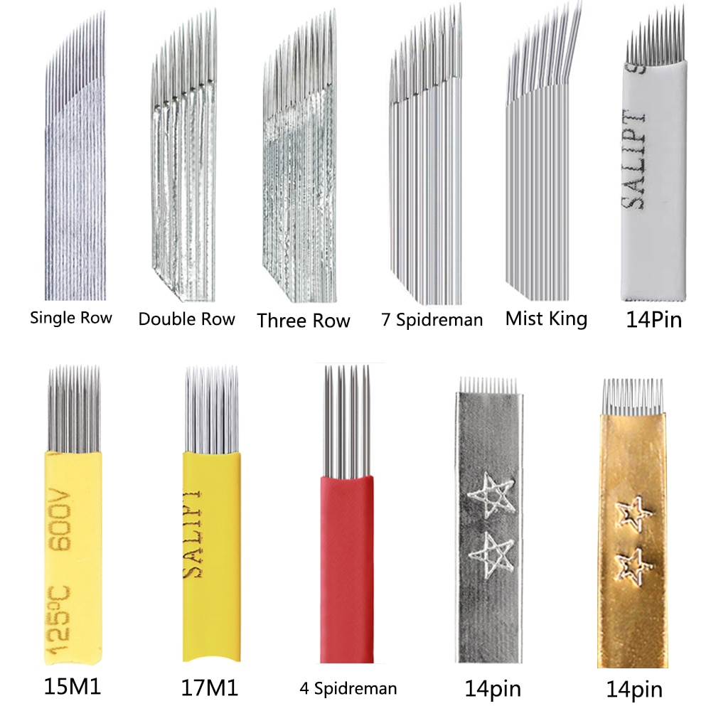 Tattoo Needle Accessories Permanent Makeup Sterilized Blade For Eyebrow Lip  100PCS