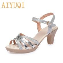 Women's Sandals Summer New Shiny High-heel Women Sandals Roman Fashion Open Toe Sandals For Ladies
