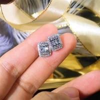 diamond s925 sterling silver earrings for women bohemia wedding fine fashion jewelry cushion diamond luxury brincos earrings