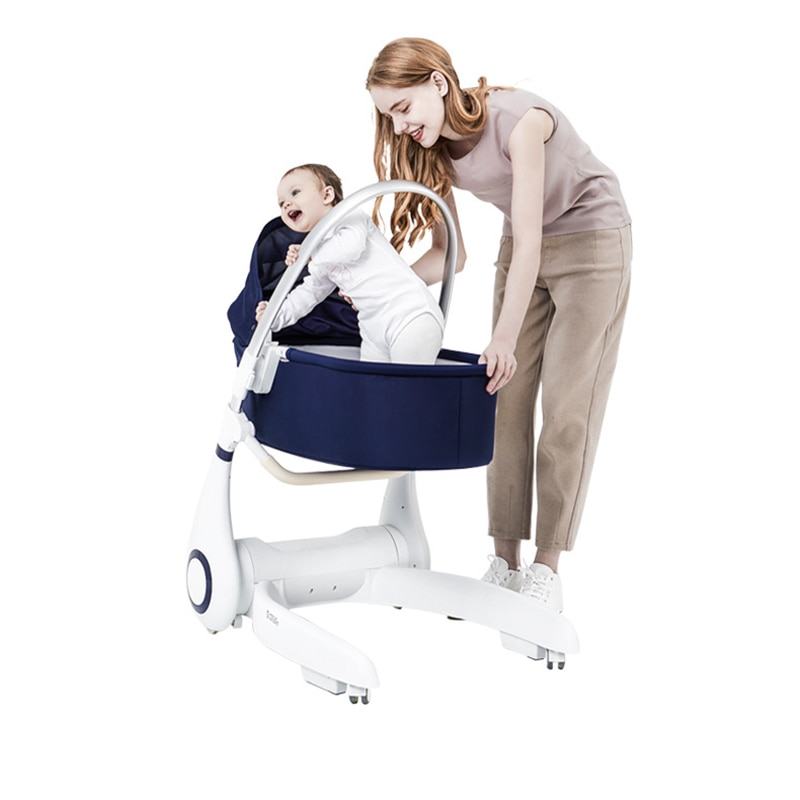 Four-in-one Baby Bed It's Also A Baby Dining Chair Foldable Child Eating Seat Home Baby Cradle Qianqiu It's Also A Baby Walker enlarge