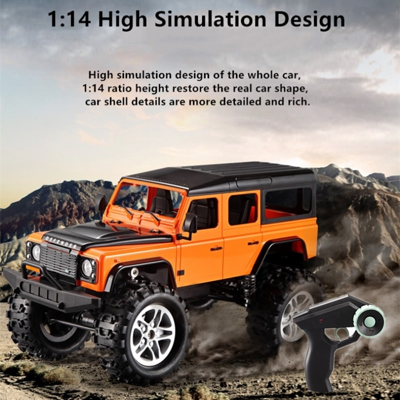 4WD Defender Remote Control Climbing Car 2.4G Rock Crawler Independent Suspension Shock Absorber Electric RC Vehicle Toy For Kid enlarge