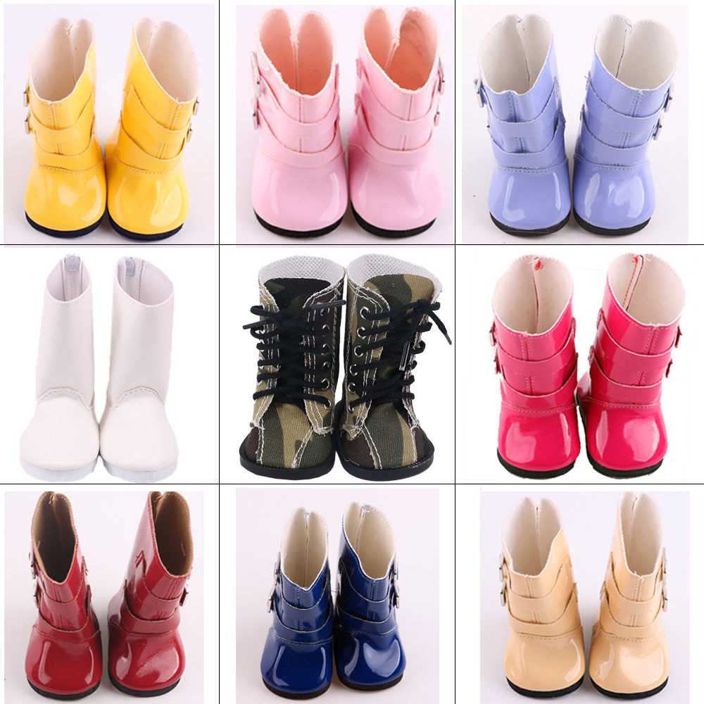 Doll Shoes Rain Boots Shoes Umbrella For 18 Inch American Of Girl`s &43Cm Baby New Born Doll Zaps Our Generation Girl`s Toy Gift недорого