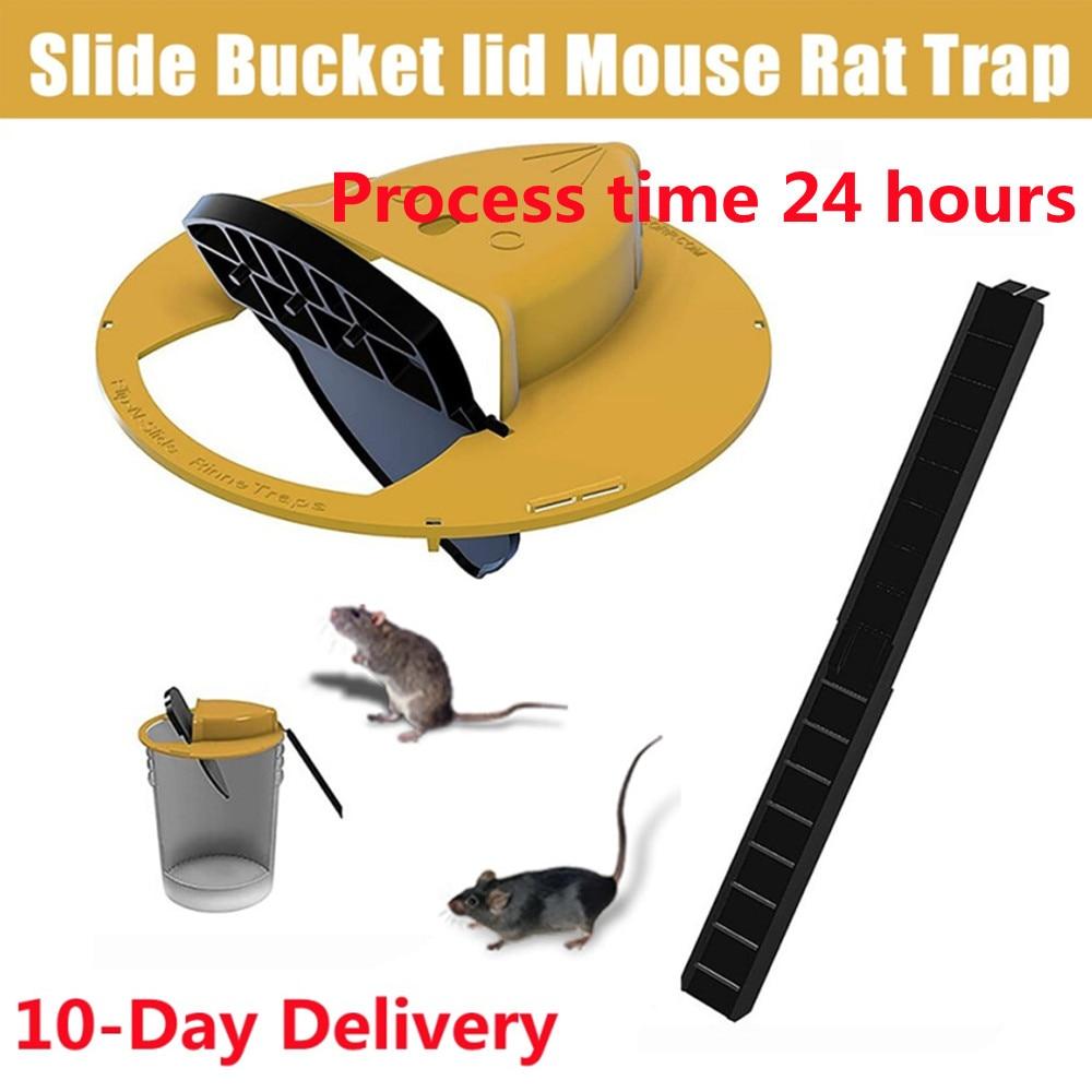 Мышь-ловушка многоразовая с крышкой и ведром