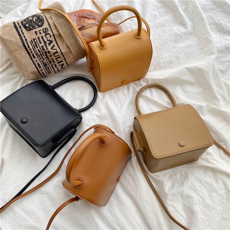 Трендовые сумки, женские модные сумки на плечо, нишевые однотонные сумки, женские маленькие квадратные сумки, женские сумки из ПУ кожи