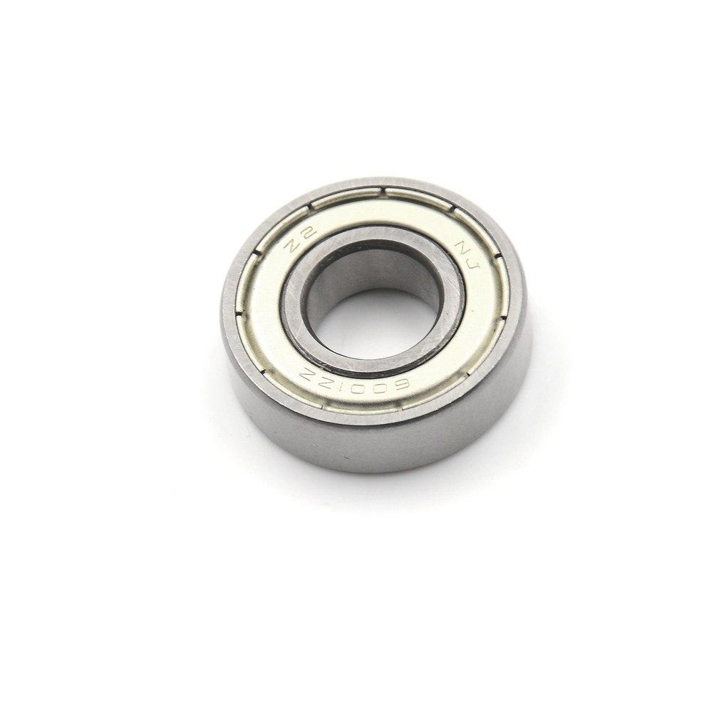 1 Uds., 12x28x8mm, acero al carbono 6001ZZ 6001Z, rodamiento de bolas, rodamiento de alta velocidad de ranura profunda