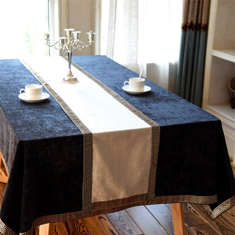مفرش طاولة صيني عالي الجودة ، علم ، غطاء خزانة ، مفرش سرير أوروبي مخملي ، مفرش طاولة ملون واحد