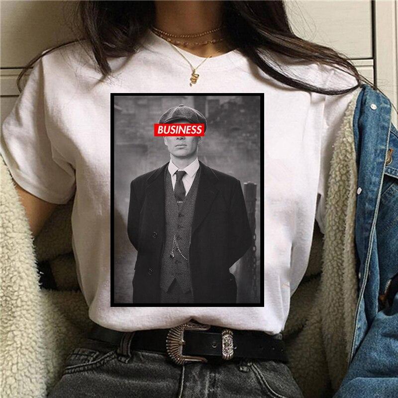Peaky Blinders Футболка Топ Футболка оверсайз Мужская/Женская Мужская футболка модная уличная футболка в стиле хип-хоп крутая летняя футболка с круглым вырезом