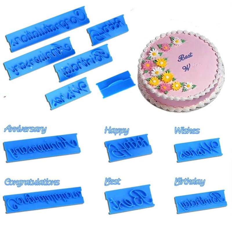 6/64 pçs conjunto inglês alfabeto letras símbolo fondant molde de bolo de cozimento cortador de biscoito plástico diy ferramentas de bolo de cozimento