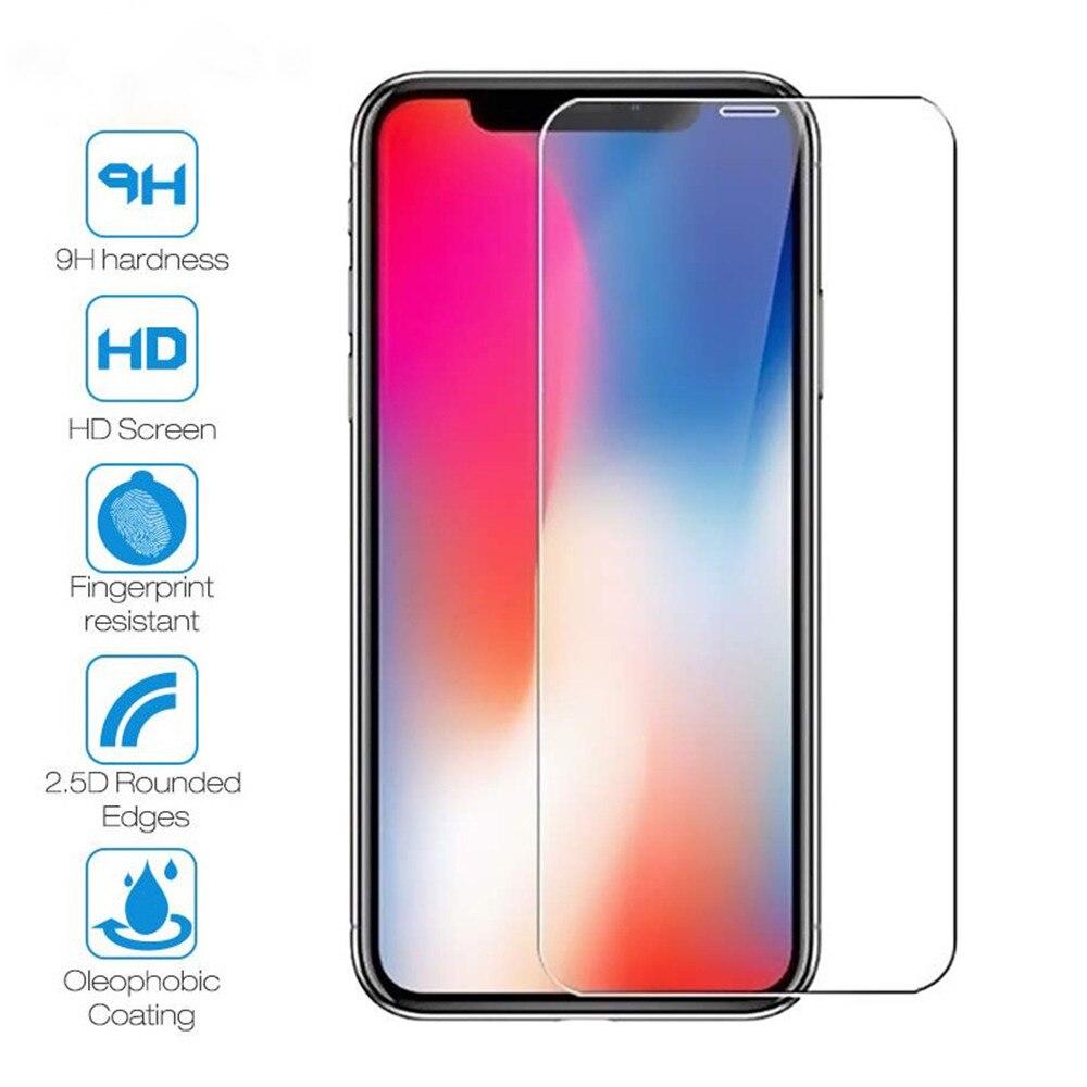 Vidro protetor de proteção no iphone 7 8 6s plus x xs 11 pro max xr protetor de tela proteção de vidro temperado para iphone 11 pro max vidro